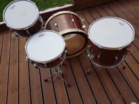C & C Player Date 1 magohany drum kit with snare
