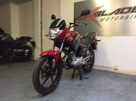 Yamaha YBR 125cc Manual Motorcycle, Red, 1 Owner, Low Miles, V Good Condition...