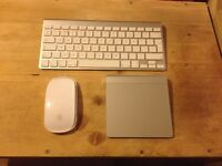 Apple trackpad, keyboard and mouse