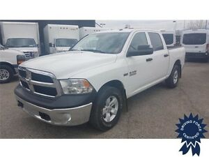 2016 Ram 1500 ST Crew Cab 4x4 - 25,930 KMs, Short Box, Seats 6
