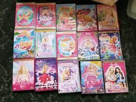 15 Barbie DVDs