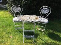 VERY CUTE METAL GARDEN TABLE AND CHAIRS!!!