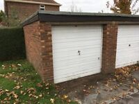 Lock up garage with forecourt parking to rent