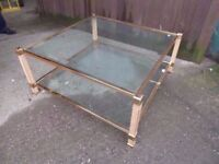 Coffee Table Large Glass Topped Delivery available £15