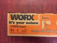 "WORX CORDLESS HEDGE TRIMMERS Worx WG251E.9 18volt Li-ion 520mm 20""BLADE"