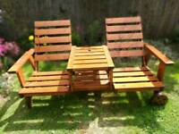 Twin garden chairs