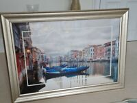 Large Framed Venice Picture