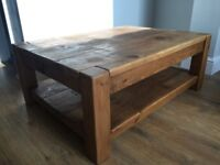 Handcrafted solid oak coffee table