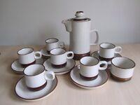 DENBY Potters Wheel Retro Coffee set