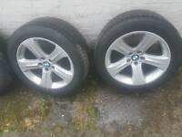 Genuine BMW 19 inch alloys with newish tyres