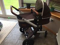 Joolz Discovery Earth Pushchair and Carrycot with Accessories (from birth to 4 y.o.)