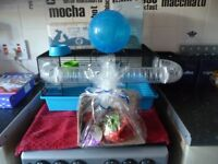 hamster gerbil mouse cage with lots of accessories