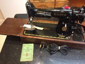 Industrial Singer electric sewing machine model 201K2