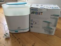 Philips AVENT 3-In-1 Steriliser - Great Condition with Box