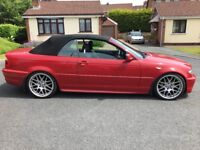 2006 BMW 318i M Sport Convertible in Imola Red