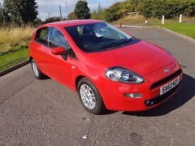 FIAT PUNTO 1.2 EASY 5DR - RED - 2013 - 26000 MLS - 1 YEARS MOT