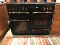 Rangemaster 110. Blue. Gas cooker with electric warming plate. Good used condition