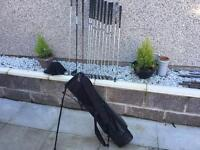 Golf clubs full set irons, woods, Putter & bag. Good condition. Lovely set for the money.