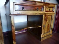 Stunning Jali Sheesham Solid Indian Rosewood Computer/Office Desk £300 New