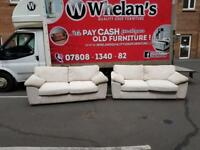 3&2 seater sofa in a cream corduroy fabric £275-mint mint condition under a year old!