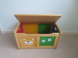 Childs 4 friends toy box by PINTO by John Crane. Beautifully made in Rubberwood
