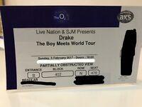 DRAKE 'boy meets world' tour Sunday 5th Feb @ o2