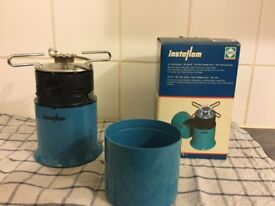 Unused portable Single burner camping gas stove (new gas canister has just been installed)