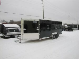 2018 Cargo Express 7' x 29' (EXTREME) ALL ALUMINUM SNOWMOBILE TR