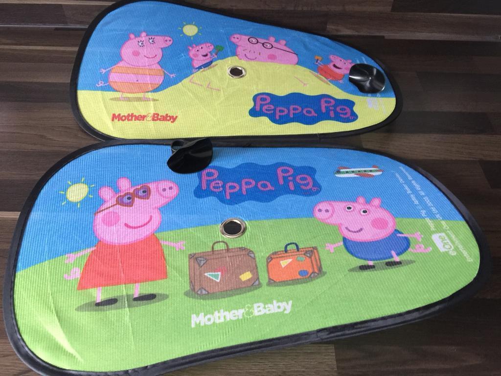 Peppa pig car sun shades