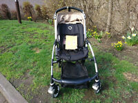 Bugaboo Bee Plus with beige hood, Maxi Cosi car seat adapters, original rain cover and user guide