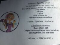 Do you need a cleaner??? We are here for you