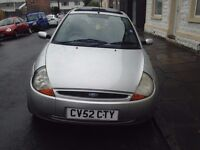 Ford ka for sale. £250 ono. Manual. Cosmetic damage to both sides hence low price. MOT June 2017