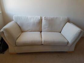 cream 2 seater sofa 40.00
