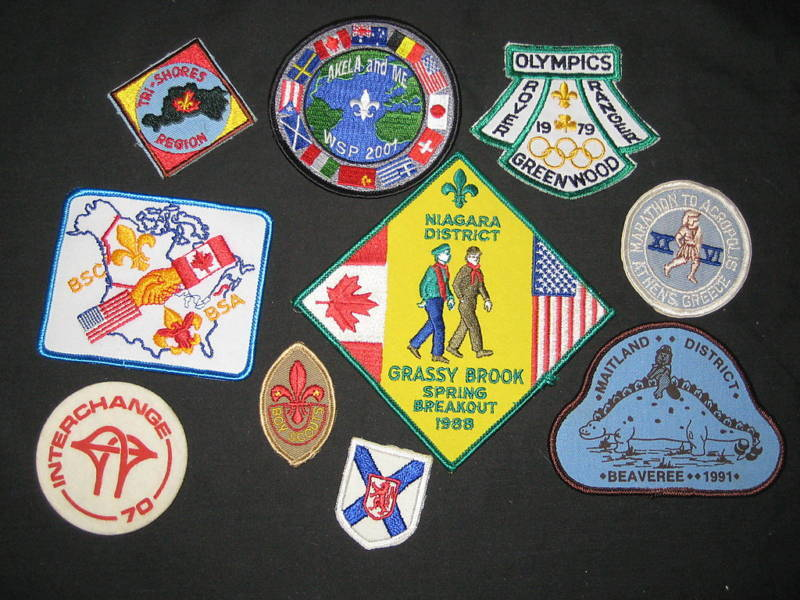 10 diff Worldwide Scout patches   #2             c24