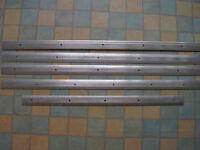 Aluminium carpet strips - qty 5
