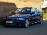 Bmw 330 CI SPORT COUPE Auto (2002/02 Reg) + HIGH SPEC + TOPAZ BLUE + BEIGE LEATHER + SUNROOF + FSH +