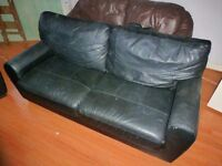 Black Leather Sofas for Quick Sale
