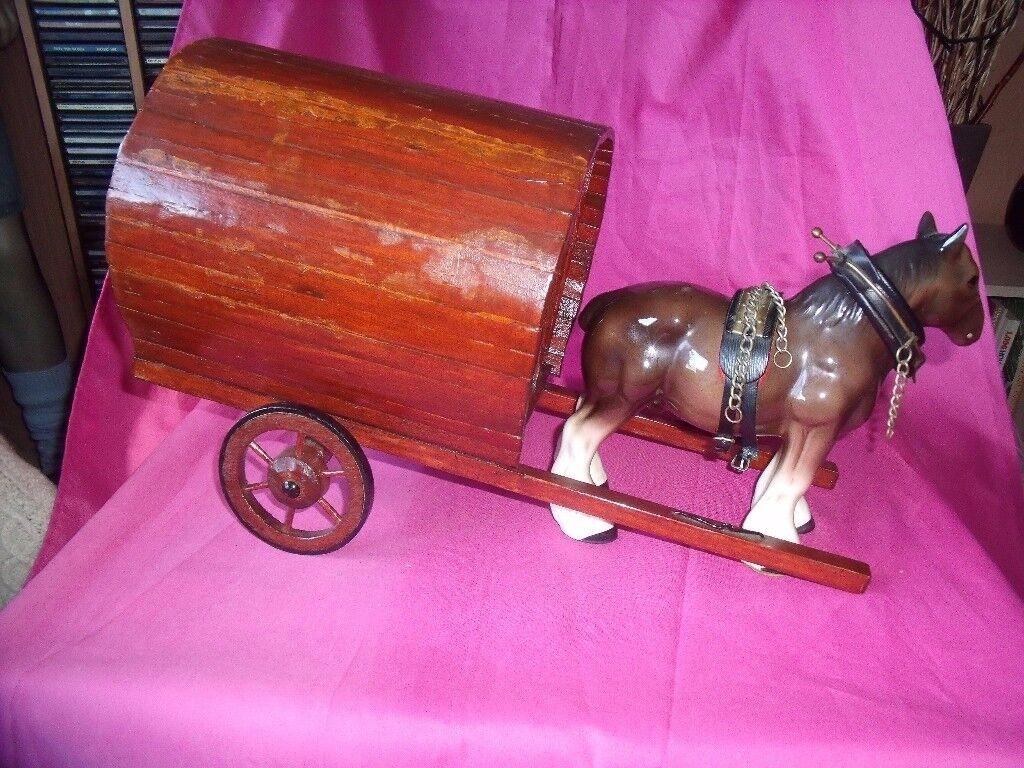 gypsy caravan and horse model