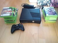 Xbox 360 2 controllers and 16 games