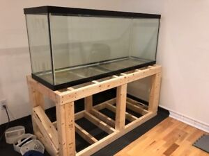 120 gallon aquarium fish tank 60' x 27' x 18'