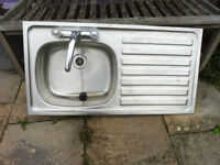 stainless steel sink with plug ideal for mud kitchen