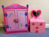 build a bear wardrobe and chest of drawers with mirror