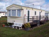 6 berth caravan to rent on Happydays Holiday park, Chapel St. Leonards Lincolnshire
