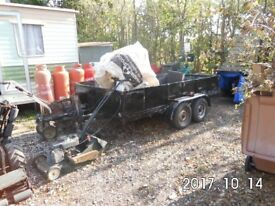 4 wheel goods trailer black .indespention axle