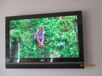 """42 """" lg plasma TVs two for """" £50 with remotes but no stand as both have been wall mounted"""