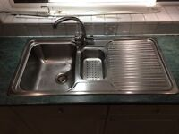 1.5 kitchen sink - Blanco stainless steel - and mixer tap