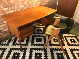 Danish Teak Retro Original Gunnar Nielsen Desk AND Chair