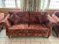 3 piece suite - sofa armchair - excellent condition