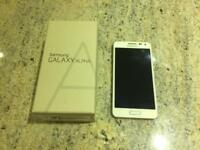 Samsung Galaxy alpha white mobile phone
