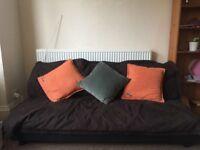 Brown Sofa bed/three man sofa